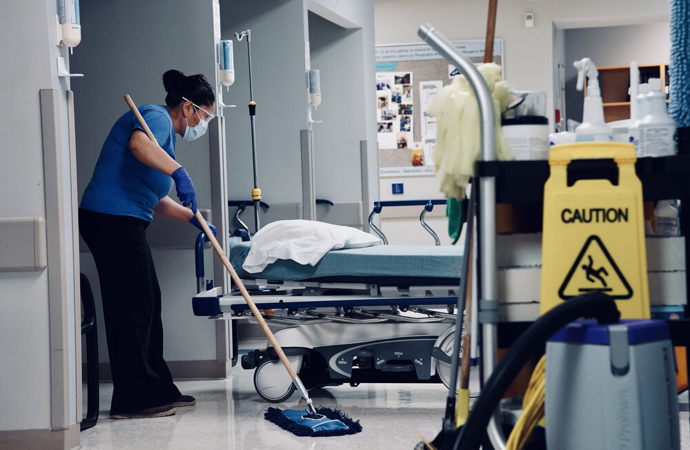 medical grade cleaning example